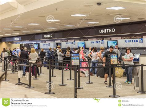 united airlines service desk united airlines ticketing editorial stock image image
