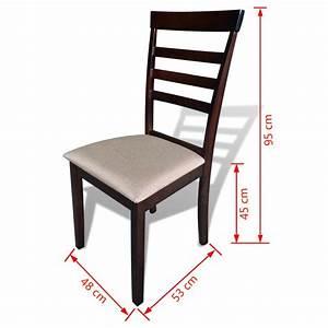 Esszimmertisch Mit 6 Stühlen : esszimmertisch set mit 4 st hlen massivholz braun creme g nstig kaufen ~ Frokenaadalensverden.com Haus und Dekorationen