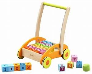 Cube En Bois Bébé : chariot de marche b b avec 30 cubes en bois premier age ~ Melissatoandfro.com Idées de Décoration
