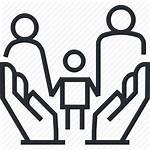 Custody Child Law Icon Line Lawyer Thin