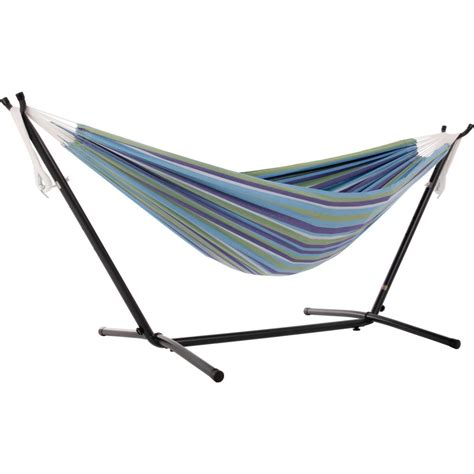 Cotton Hammocks by Vivere 9 Ft Portable Cotton Hammock With Stand In