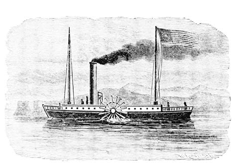 Barco A Vapor Steamboat by The First Commercially Successful Steamboat The Clermon