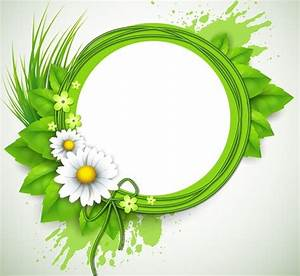 Free Spring Concept Green Floral Vector Frame 01 - TitanUI