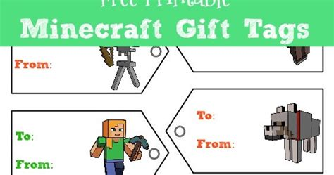 life   boys  minecraft gift tags top minecraft gift picks