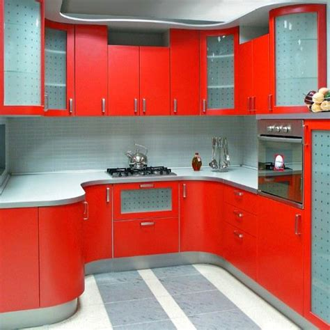 Red Color Can Revolutionize Small Kitchen Design