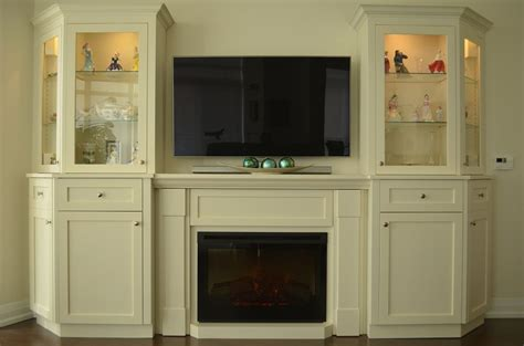custom wall unit  electric fireplace   condo