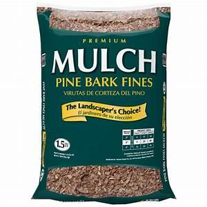 Shop GARDEN PRO 1 5-cu ft Dark Brown Bark Pine Mulch at