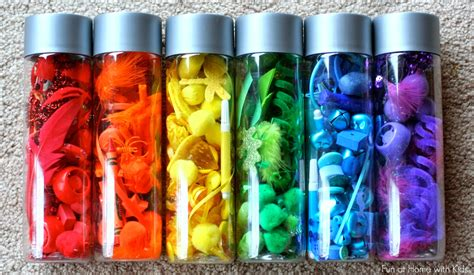 colors and bottles rainbow scavenger hunt and rainbow discovery bottles