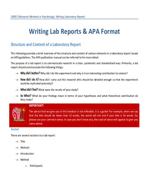 lab reports docs pages word