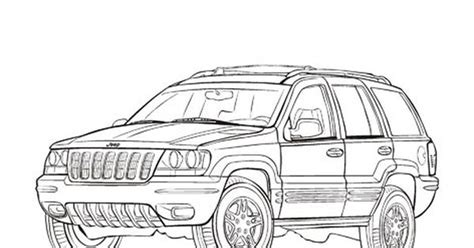 jeep grand cherokee cars coloring pages cars coloring