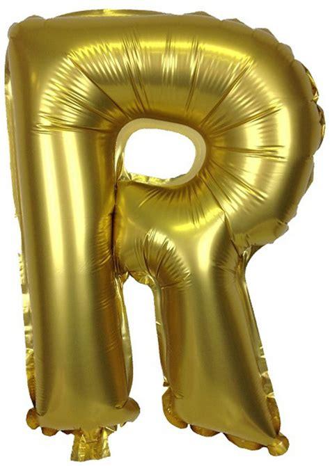 mylar letter balloons 16 quot foil mylar balloon gold letter r 16043