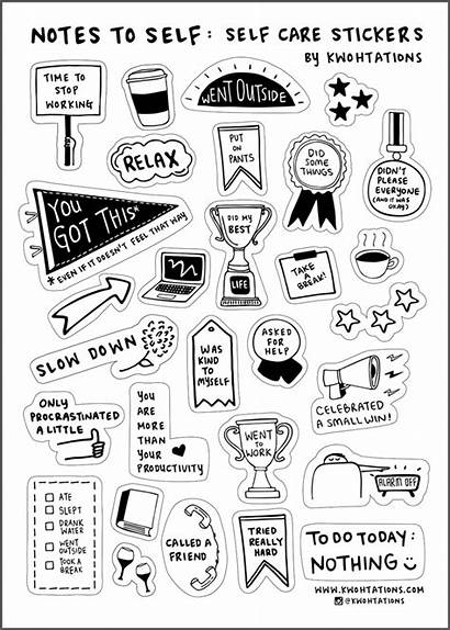Stickers Sticker Care Self Sheet Printable Planner