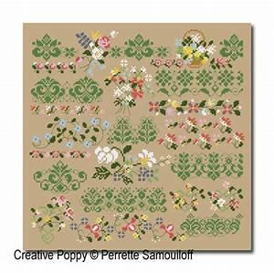 Perrette Samouiloff Thousand Flowers Border Cross Stitch