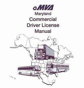 Commercial Driver Manual For Cdl Training  Maryland  On Cd