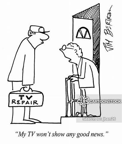Repairman Cartoon Funny Cartoons Television Cartoonstock Citizens