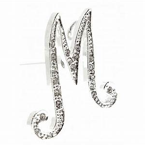 monogram letters m silver corsage creations With silver monogram letters