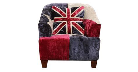 Union Jack Velvet Armchair
