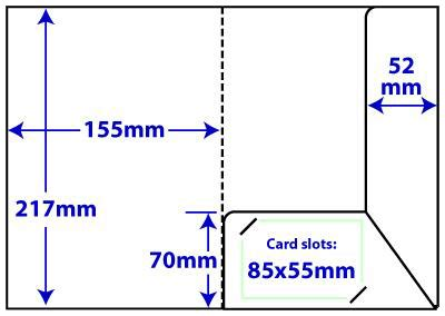 a5 interlocking folder template a5 compact interlocking folder presentation folder printing