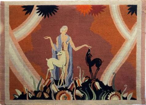 french art deco tapestry style jean dupas maiden