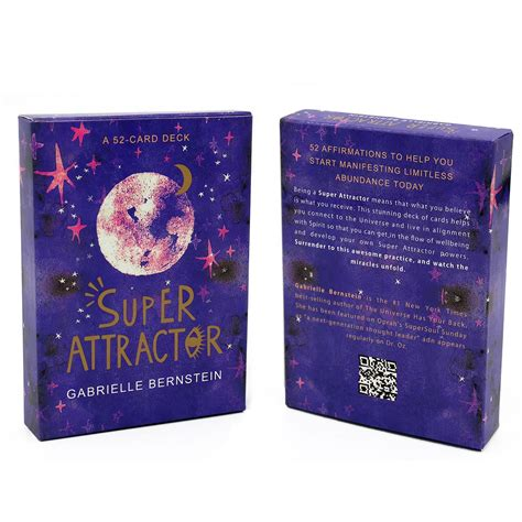 Roughly 9 x 12.5 cm (3.5 x 5).about the deck52 affirmations to help you start. Super Attractor A 52 Card Deck Cards Tarot Cards English ...