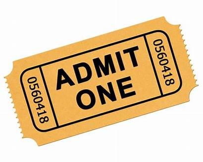 Ticket Transparent Clipart Clip Admission Movie Tickets