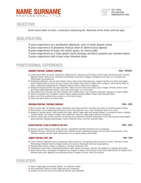 Free Resume Template Australia by Resume Templates Australia Professional Resume Free