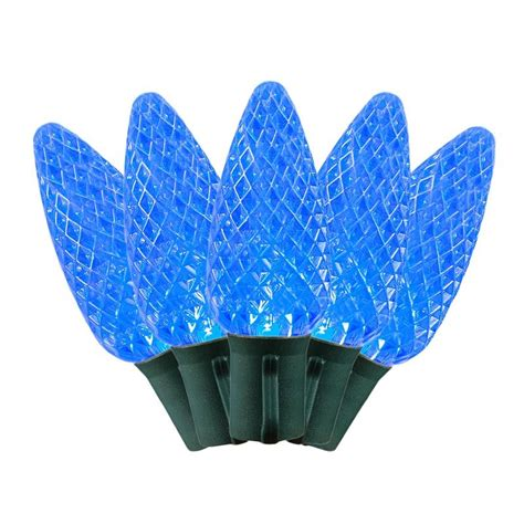 commerical grade led c9 light sets with blue bulbs