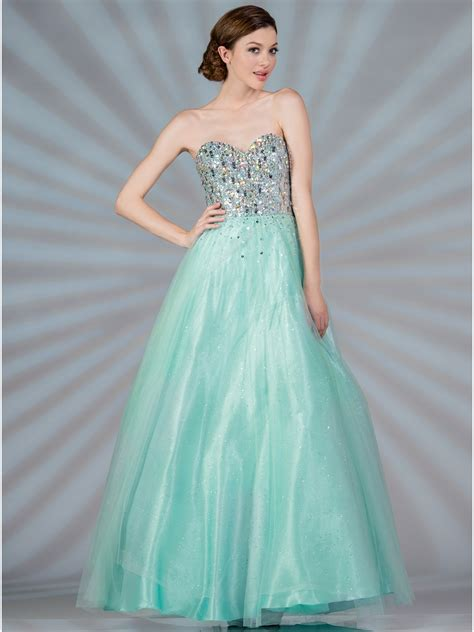 Mint Beaded Fairytale Prom Dress   Sung Boutique L.A.