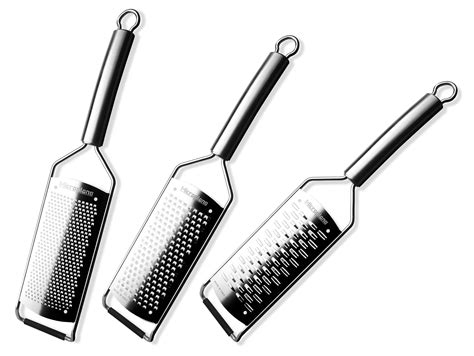 microplane professional stainless steel grater set  piece cutlery