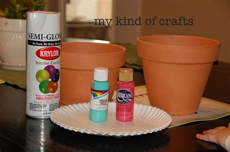 my of crafts painting flower pots