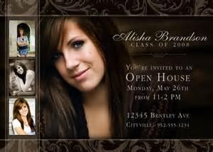 Open House Graduation Invite Example