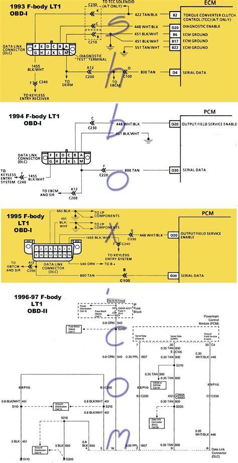 94 Lt1 Pcm Wiring Diagram by 4th Lt1 F Tech Aids