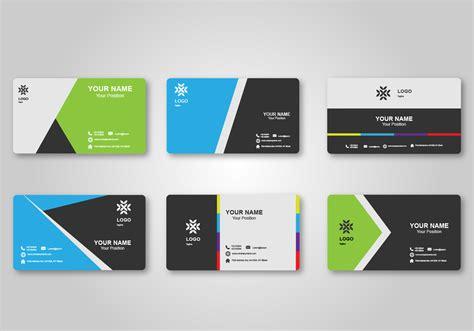 bright blank business card design   vectors