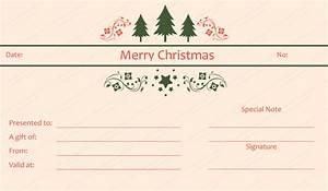 triple tree christmas gift certificate template With homemade christmas gift certificates templates