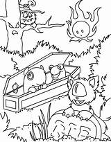 Neopets Coloring Woods Haunted Coffin Cartoon Colouring Drsloth Casket Fireball Graveyard Viewing sketch template