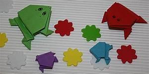 Geldfrosch Basteln Anleitung : origami frosch falten h pfende papierfr sche basteln ~ Lizthompson.info Haus und Dekorationen