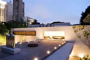 led bodeneinbaustrahler moderne ideen archzinenet With feuerstelle garten mit balkon beleuchtung led