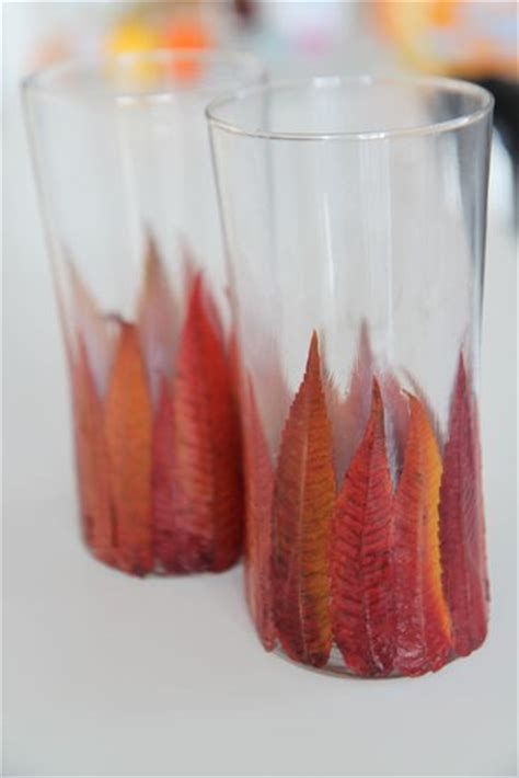 photophore facile 224 faire avec des feuilles d automne avec tutorial diy bougies et