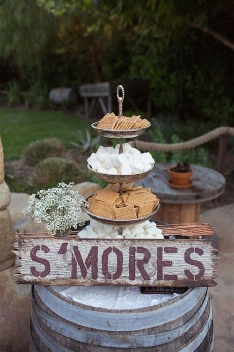 unique wedding reception ideas on a budget s mores for a