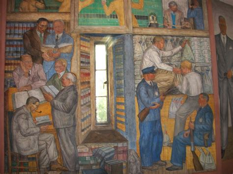 Coit Tower Murals Wpa by Coit Tower Wpa Murals San Francisco Ca Image