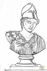 Coloring Greek Sculpture Warrior Sculptures Pages Printable Template Sculptor Supercoloring Sketch sketch template