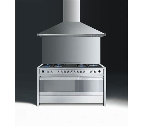 smeg gas range cookers buy smeg opera 150 dual fuel range cooker stainless steel free delivery currys