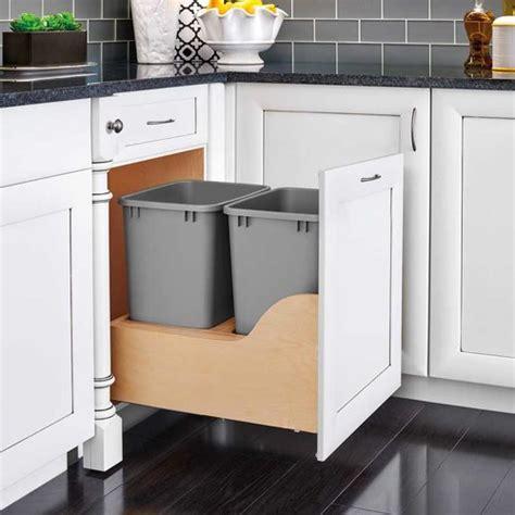 kitchen cabinet trash pull out rev a shelf soft trash pullout 50 quart 4wcsc 7966