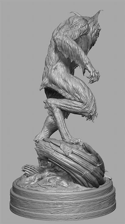 Werewolf Howling Scale Zbrush Sculpt Jesse Sandifer