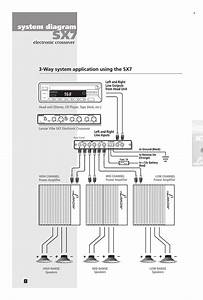 Crossover Wiring Diagram Car Audio Lanzar Car Audio Sx7