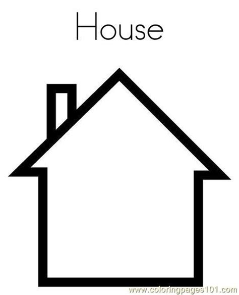 house coloring page  shapes coloring pages