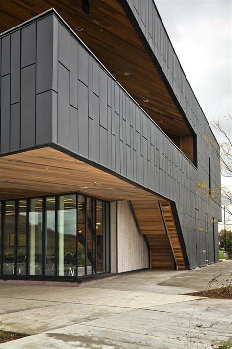wall panel dri design  vmzinc facade architecture facade design architecture exterior