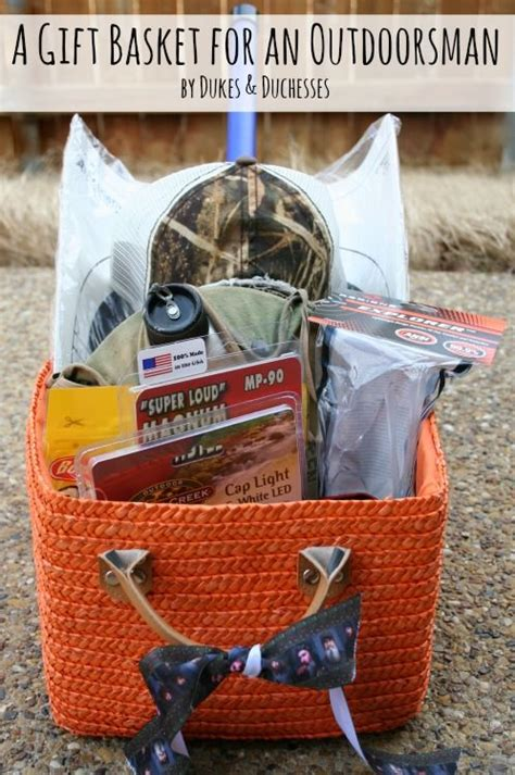 gift basket for an outdoorsman bags gift baskets and i will