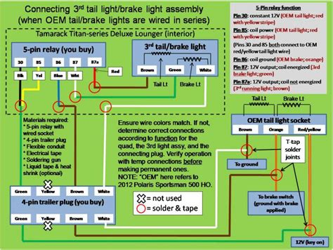 Wiring Diagram For 97 Polari 425 Magnum by How To Make That Led 3rd Brake Light Work Polaris Atv Forum