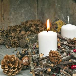 Weihnachtsdeko Selber Basteln Naturmaterialien : weihnachtsdeko selber machen naturmaterialien tannenzapfen ~ Yasmunasinghe.com Haus und Dekorationen